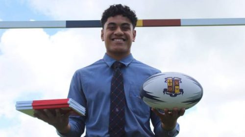 Auckland schoolboy Christian Tuipulotu weighs up his options