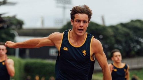 Dominic Overend setting the pace ahead of the Youth Olympic Games