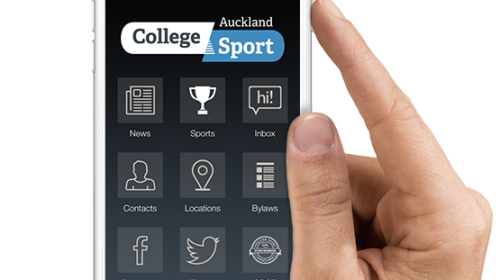 Download the College Sport Auckland App