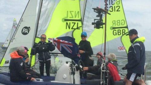 Young Kiwi pair win world Feva title despite painful injury