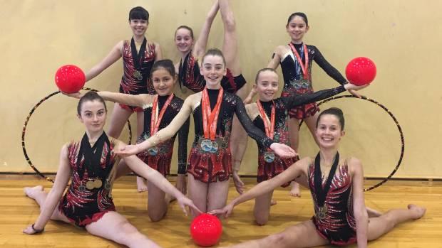 Wentworth College gymnasts celebrate their golden touch