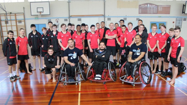 Learning about wheelchair basketball and living with a disability