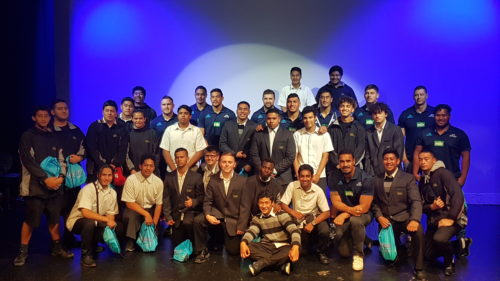 Blues inspire Ormiston Senior College rugby team