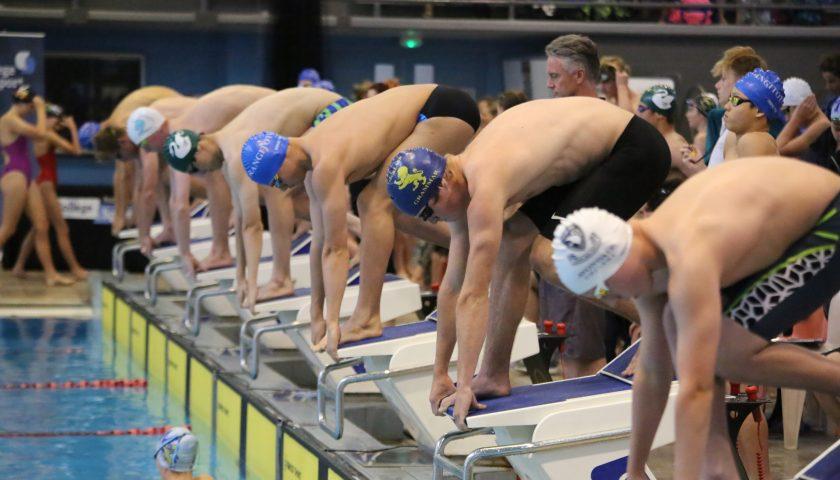 High school swimmers head for Waterworld