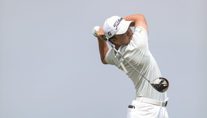 Zheng pursues his golf dream in the USA